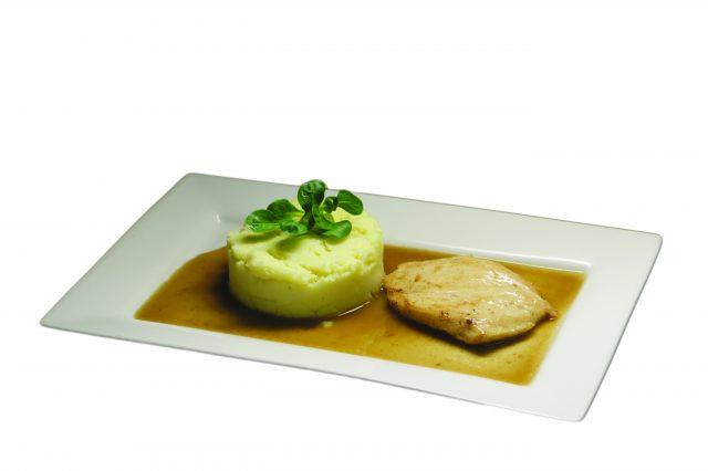Kuracie prsíčka na prírodno, zemiaková kaša – 3,30 €