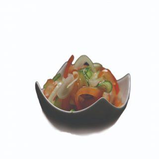 Miešaný šalát v sladkokyslom náleve – 150g – 2,00 €