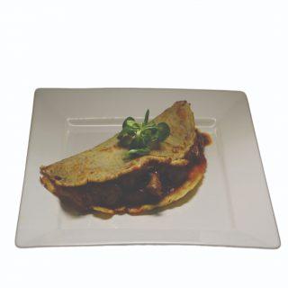 Zemiaková placka plnená pečeňou – 150g – 5,10 €